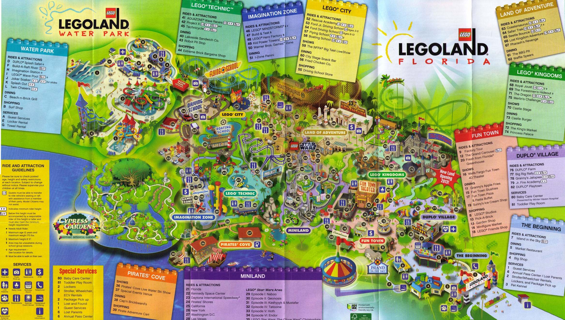 Park Map 3 at Legoland Florida Photos