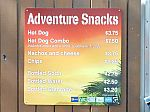 Adventure Snacks Menu